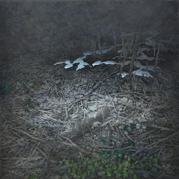 Fusion, huile sur toile 90x90cm,2012